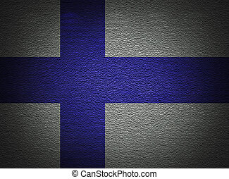 Finnish flag wall, abstract grunge background