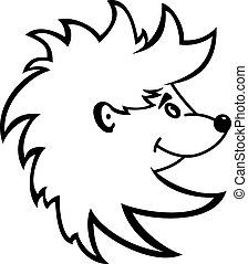 Hedgehog - Cartoon illustration of a hedgehog isolated on...
