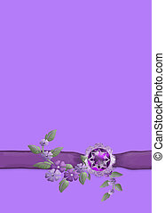 Purple and Lilac - A feminine and sophisticated design...