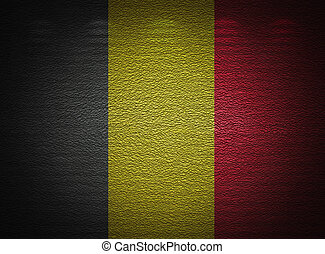 Belgian flag wall, abstract grunge background