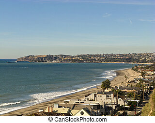Dana Point from Capistrano Beach - Dana Point Harbor looking...