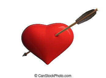 heart archery arrow
