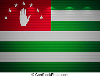 Abkhazia flag wall, abstract background