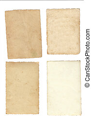 Collage of old paper isolated