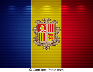Andorra flag wall, abstract background