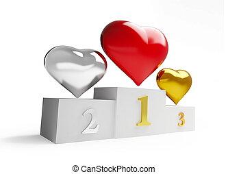 pedestal heart