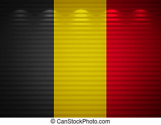 Belgium flag wall, abstract background