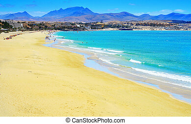 Playa Esmeralda in Fuerteventura, Canary Islands, Spain -...