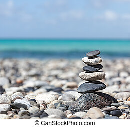 Zen balanced stones stack - Zen meditation background -...