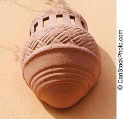 lantern, clay