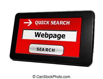 Search for webpage