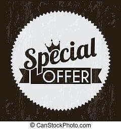 special offer over black background. vector illustration