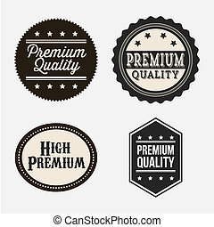 premium quality over gray background vector illustration