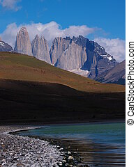The Torres in the Torres del Paine - The Cordillera del...