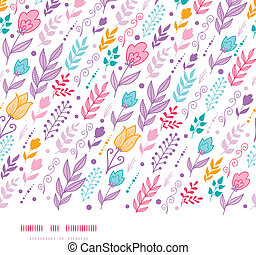 Tulip field flowers horizontal seamless pattern background -...