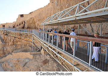 Masada Fortress Israel - MASADA,ISR - SEP 17:Visitors at...