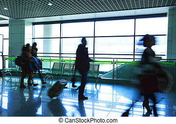 passenger in the airport - passenger in the interior of the...