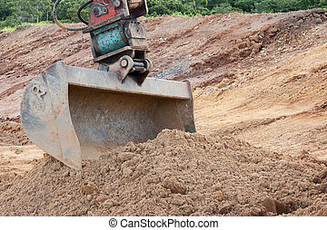 large bucket - a close up picture of excavator bucket...