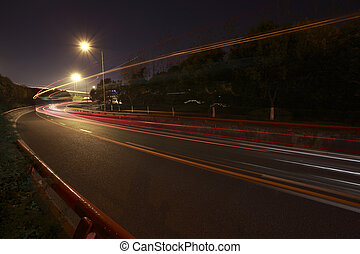 Highway at night - Long exposure photographs of urban night...