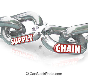 Supply Chain Broken Links Severed Relationships - The words...