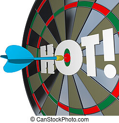 Hot Dart Popular Great Performance Dartboard - A dart hits...