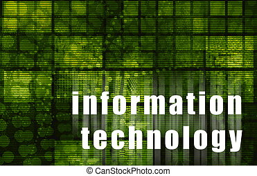 Information Technology Corporate Abstract as Art