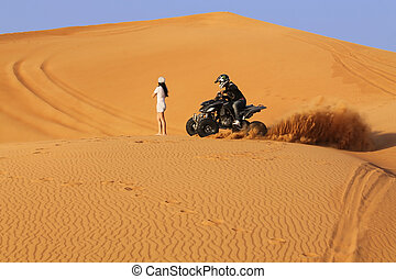 bike desert safari rally - quad bike, desert, rally,...