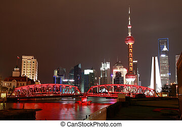 Lujiazui Finance&Trade Zone of Shanghai bund at New landmark...