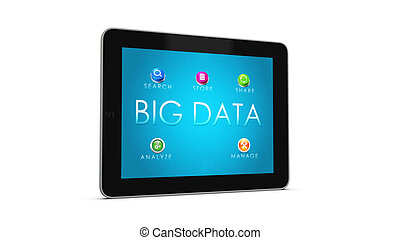 BIG DATA Tablet 1 - 3d render of mobile devices - tablet...