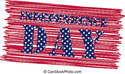 Independence day - white background with isolated stamp for...
