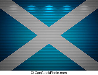Scottish flag wall, abstract background