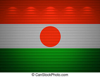 Niger flag wall, abstract background