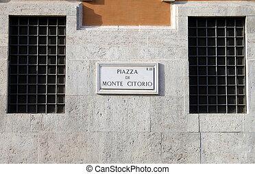 The Italian Parliament in Montecitorio Square of Rome, Italy