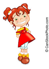 smiling child - colored illustration of a smiling child