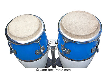 two congas isolated on white background