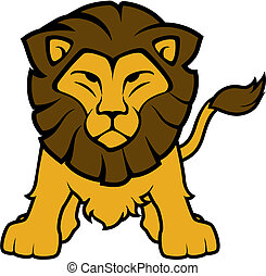 lion front view vector - illustration of lion front view...