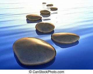 step stones