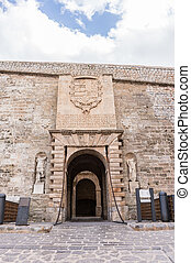 Entrance gate of Dalt Vila in Ibiza, Spain