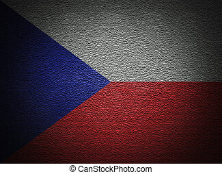 Czech flag wall, abstract grunge background