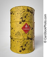 Oil-Barrels - corroding container for oil and other fuel