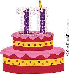 cake  of eleventh birthday