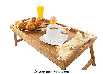 Desayuno continental en la cama