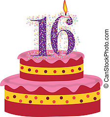 cake of sixteenth birthday