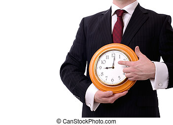 youre late - look at the time youre late concept isolated on...