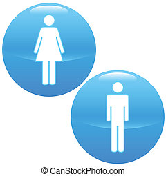 Men and women logo - Men and Women logo on white background