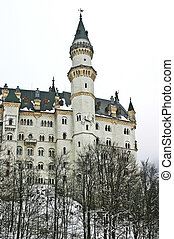 Neuschwanstein castle during the winter