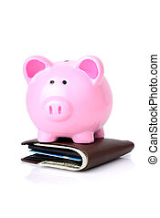 piggy bank wallet - smart with your money a biggy bank on...