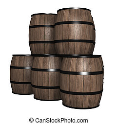 Wood barrel - The objects made at 3d
