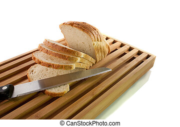 Bread Chopping Board - 8 - Bread chopping board with knife...