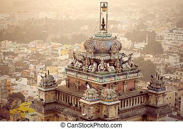 Famous Rockfort Ucchi Pillayar Temple in Tiruchirappalli...